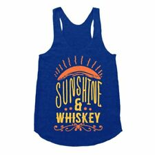 Women Letter Printed Blue Sleeveless Racerback Loose Vest Tops Tanks Tank Tops