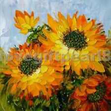 "Modern Abstract Hand-painted Oil Painting Sunflower 20""x20"" /NO Frame"