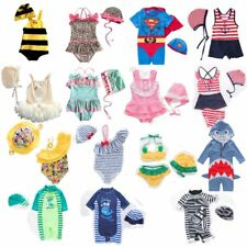Baby Kids Boy Girl Summer Beach Swimwear Swimsuit Swimming Costume+Hat Cloth Set