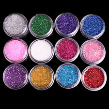 2X Powder Dust Glitter Nail Art Face Body Eye Shadow Craft Painting Iridescent