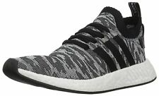 Adidas Mens Originals NMD R2 Pk Sneaker Black/Black/White BY9409