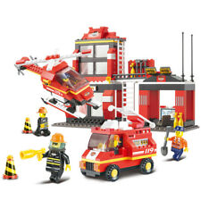 371pcs City Fire Station Building Blocks Sets Sluban 0225 DIY Model Toys Bricks