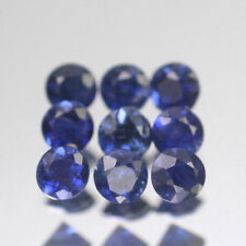 2.8mm Lot 1,2,6,10pcs Heated only! Round Calibrated Natural Blue SAPPHIRE