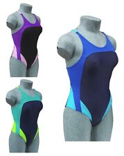 CHEX Rio Ladies Girls Swimming Costume Swim Suit Racer Strapped Back Lycra