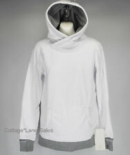 NEW LULULEMON Runaway Fleece Pullover Hoodie 6 White Herringbone NWT FREE SHIP
