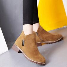 Women Ankle Boots Short Martin Boots Chunky Heels Boots Female Fashion Shoes B1