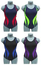 CHEX Fitness Mexico Ladies Swimming Costume Swim Suit Racer Strapped Back Lycra