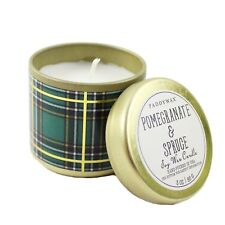 Paddywax Plaid Tin Scented Soy Wax Jar Candles