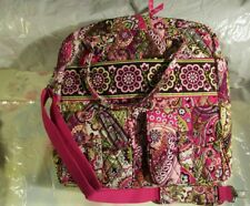 VERA BRADLEY Grand Cargo Bag Travel Vacation College Luggage Weekend Very Berry