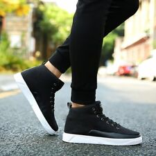 Fashion Men Canvas Shoes Lace-up High Style Flat With Students Casual ShoesBU