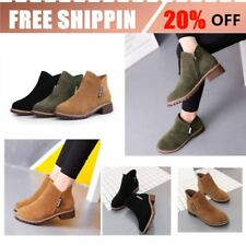 Women Ankle Boots Short Martin Boots Chunky Heels Boots Female Fashion Shoes BU