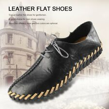 Spring Summer Autumn Men Fashion Casual Leather Flat Shoes Soft Lace-up Shoes K1