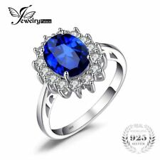 Kate Middleton's 3.2ct Created Blue Sapphire Engagement 925 Sterling Silver Ring