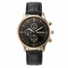 Mens Casual Classic Analog Watch Crocodile Faux Leather Christmas Deals Gift