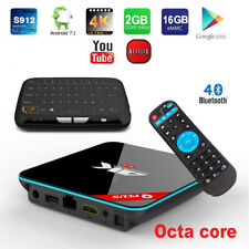 Q+ Plus Octa-Core 1080p 4K 3D Bluetooth Android Smart TV Box+Touchpad Keyboard