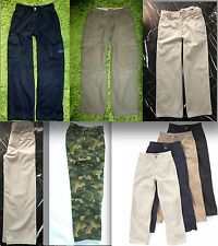 LANDS' END KIDS Boys Navy Green CAMOUFLAGE CARGO Twill CHINOS JEANS Pants 10 12