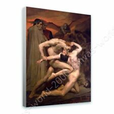CANVAS (Rolled) Dante And Virgil In Hell William Bouguereau Art Painting