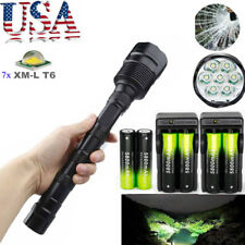 80000LM Tactical 7x XM-L T6 LED Flashlight 5Modes Police Torch Lamp 18650 Light!