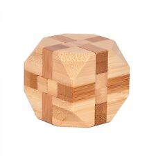 3D Puzzles Game Toy Brain Teaser Wooden Interlocking Burr Educational For Adults