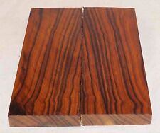 Desert Ironwood Bowie size bookmatched figured knife scales turning blanks
