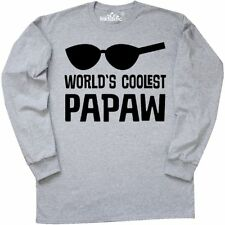 Inktastic Worlds Coolest Papaw Fathers Day Long Sleeve T-Shirt Best Gift For Him