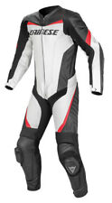 NEW Dainese Racing P. Perforated Leather 1 Piece Race Suit  White/Black/Red