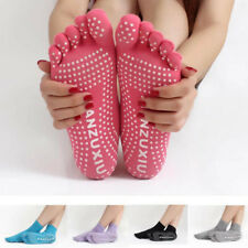 Women Five Fingers Non Slip Yoga Socks Short Canister Toe Massage Ladies Fitness