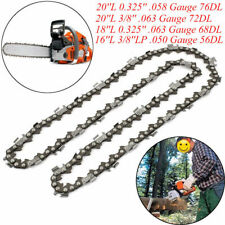 """Chainsaw Saw Chain Blade Replacement for Husqvarna 16""""/18""""/20"""" inch 57 Links DIY"""