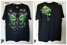 NEW Men's MMA Mixed Martial Arts Tattoo Biker Skull UFC T Shirt Medium M