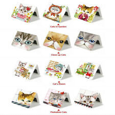 3Pcs Cartooon Cat Cute Magnetic Bookmark Paper Book Mark Bookmarks Stationery #Y