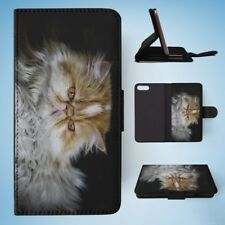 PERSIAN CAT 2 FLIP WALLET CASE COVER FOR IPHONE 8 PLUS