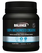 Balance Sports Nutrition 100% MICRONISED CREATINE Muscle Support- 250g Or 500g