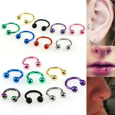 Piercing Horseshoe Eyebrow Nose Ear Lip Bar Nipple Rings Cartilage Piercing*v*