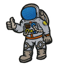 Astronaut Spaceman Embroidered Applique Patch - Hook & Loop/ Iron-on Type