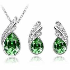 Crystal Earring Necklace Pendant Rhinestone Water drop Jewelry Set