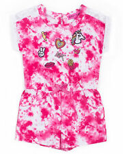 Betsey Johnson White/Pink Embroidered Romper - Infant/Toddler
