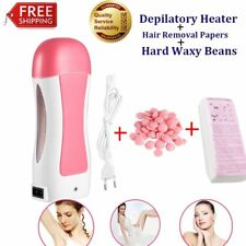 Depilatory Wax Heater & Roll On Wax Cartridge Kit Hair Removal Strip Body Waxing