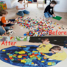 150/45CM Large Portable Kids Toy Storage Bag Play Mat For LEGO Toys Rug Box