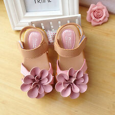 1 pair Baby Kids Girls sandals Princess Shoes Toddler Flat Shoes Fashion 2017