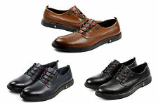 Mens Casual Lace Up Shoes Smart Formal Faux Snake Skin Italian Fashion Dress UK
