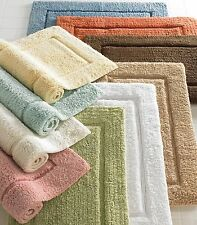 Large Bathroom Rugs Solid Colors 24x40 Plush Egyptian Cotton Luxury Bath Mat