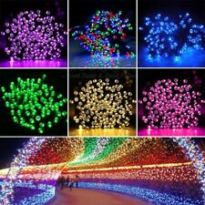 Solar Powered 100 LED String Lights Outdoor Christmas Party Decor Fairy Lamp