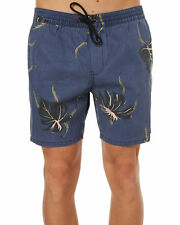 New Globe Men's Pointer Mens Beach Short Cotton Polyester Elastane Blue