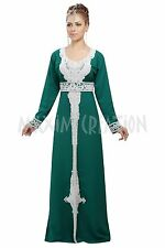 ORIGINAL MODERN ABAYA FANCY JILBAB ARABIAN KAFTAN WEDDING GOWN DRESS 6085