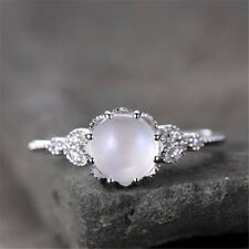 Trendy Moonstone  925 Silver Ring  Jewelry Wedding Engagement Party Size 6-10