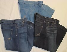 NEW Women 0 2 4 6 EXPRESS Brand CROPPED High Waisted WIDE LEG JEANS, Capri FLARE