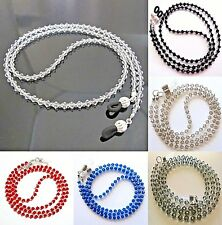 Crystal Eyeglass Reading Glasses Sunglasses Spectacles Spec Holder Cord Chain