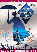 Mary Poppins Disney 40th Anniversary Edition (DVD 2004, 2-Disc Set) W/ Slipcover
