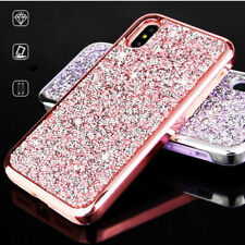 Heavy Duty Rug Rubber Sparkle Handmade Diamond Bling Case Cover for iPhone X Ten