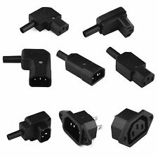 Rewireable 6A/10A/250V AC IEC Socket C13 C14 Cable Mounting 3PIN Power Connector
